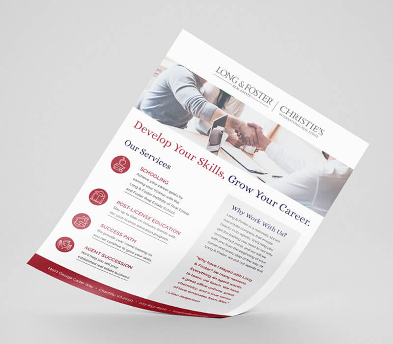 Marketing Collateral Long & Foster B2B Sell Sheet